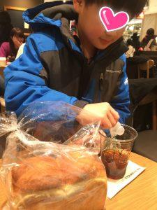 チビスケが焼いた食パン とーーっても美味しい。